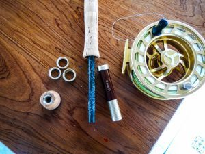 assemble fishing rod